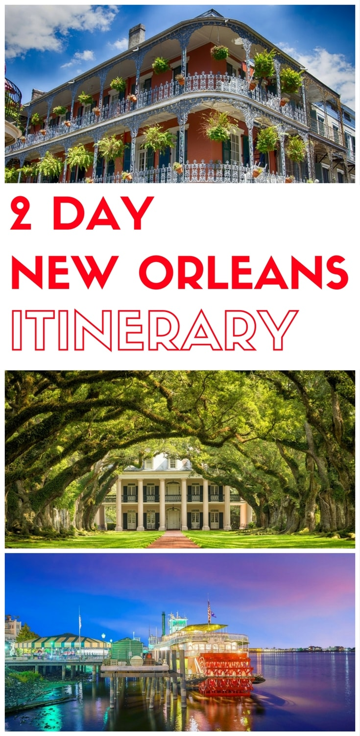 Planning a trip to New Orleans Louisiana? Here is a 2 day itinerary to New Orleans, things to do in New Orleans, what to do in New Orleans in two days