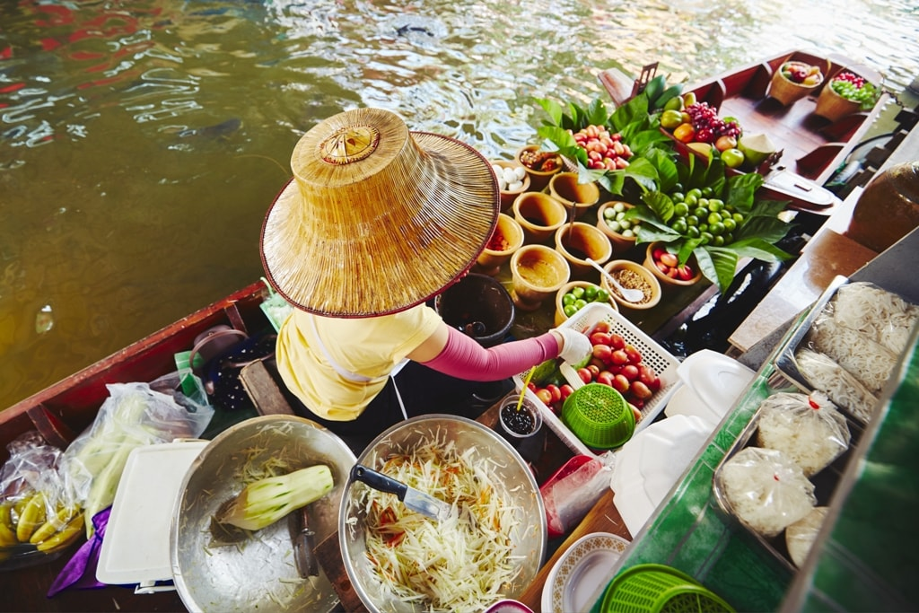Cuisine on the boat - Two days in Bangkok
