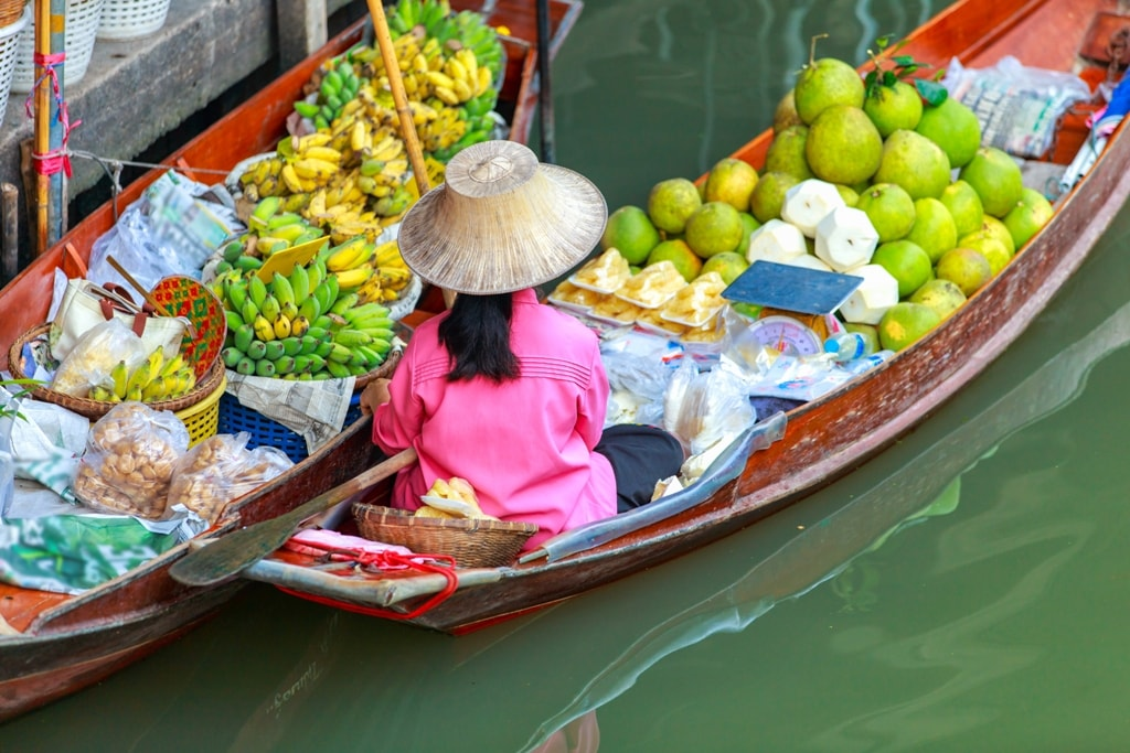 floating market -Two days in Bangkok
