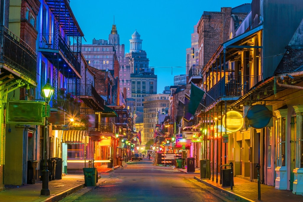 Bourbon Street - Two days in New Orleans