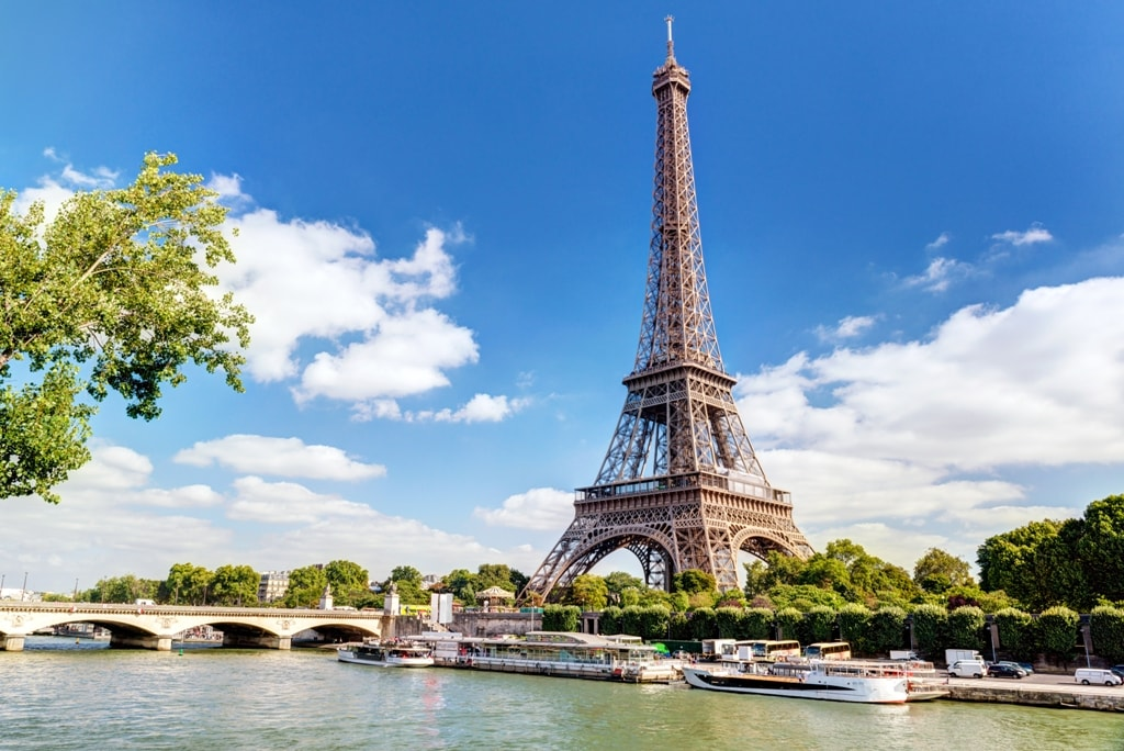 The Eiffel tower from the river Seine -Two days in Paris