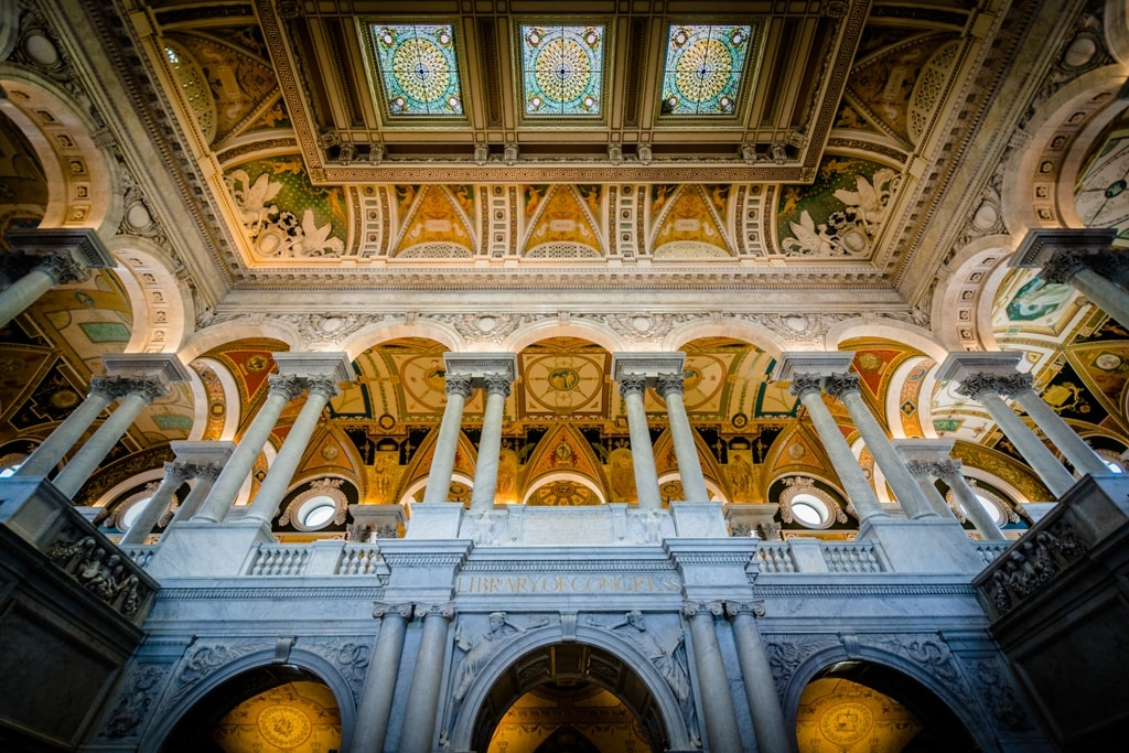 The interior of the Thomas Jefferson Building of the Library of Congress-Two days in Washington DC