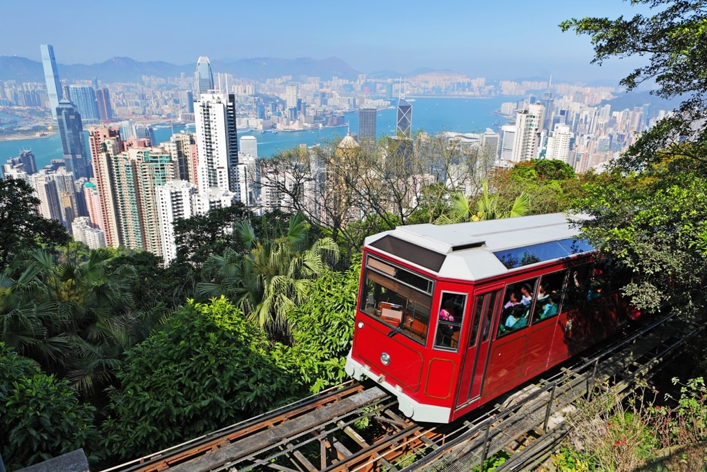 Tourist tram at the Peak-Two days in Hong Kong