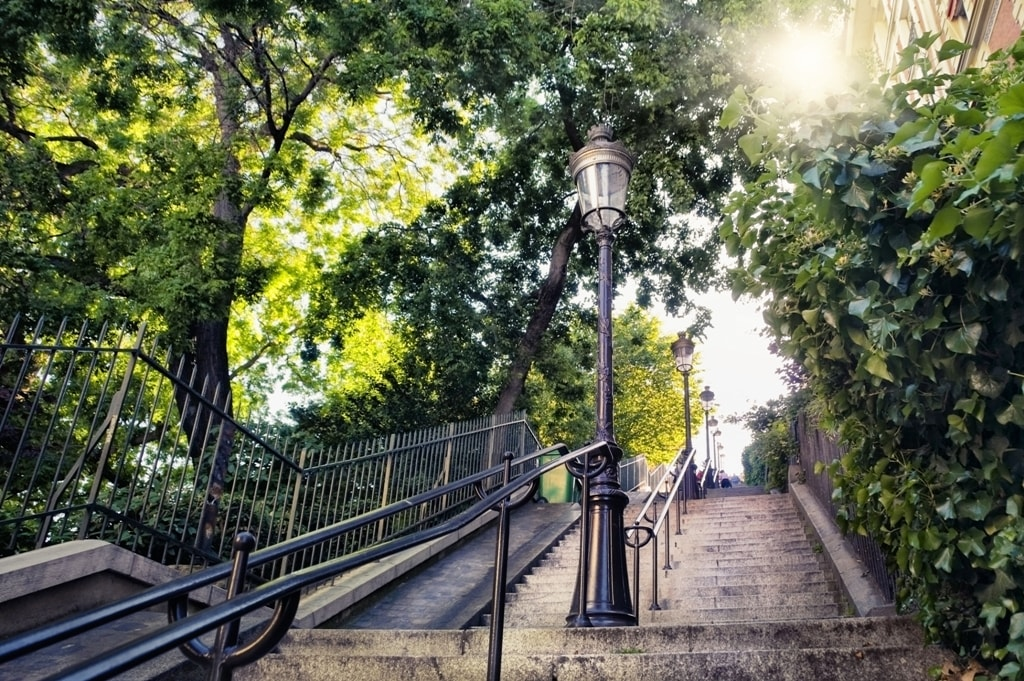 Typical Montmartre staircase in Paris-Two days in Paris