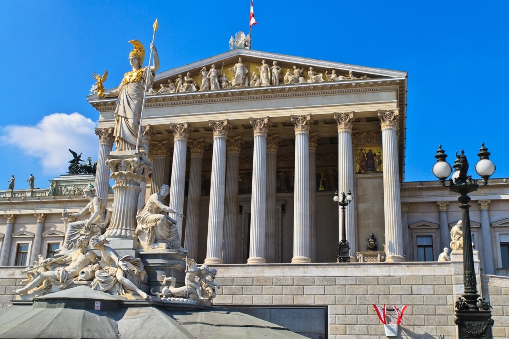 Austrian Parliament Building -Two days in Vienna