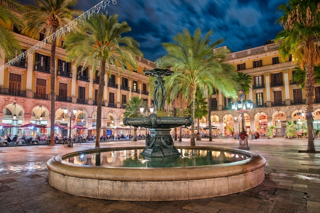 Placa Reial - two days in Barcelona itinerary