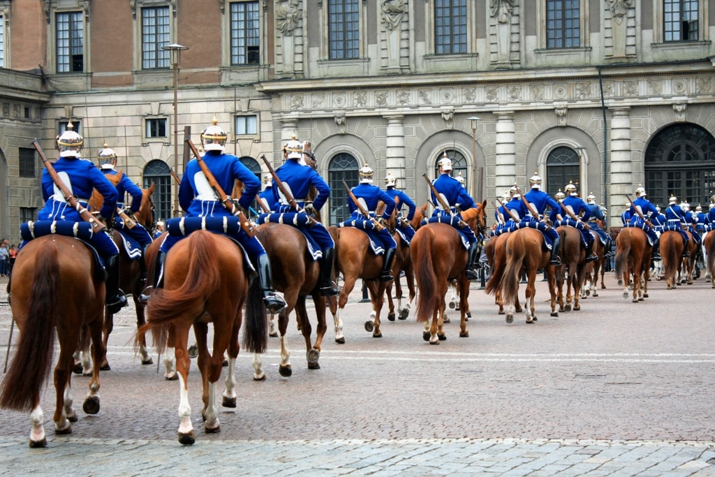 Guards - changing of the guards at the Royal Castle in Stockholm - 2 days in Stockholm itinerary