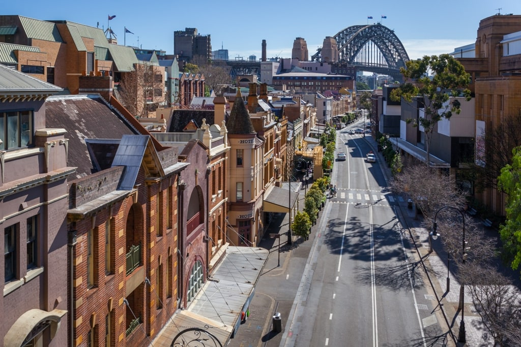 View of George Street in the Rocks - Two days in Sydney itinerary