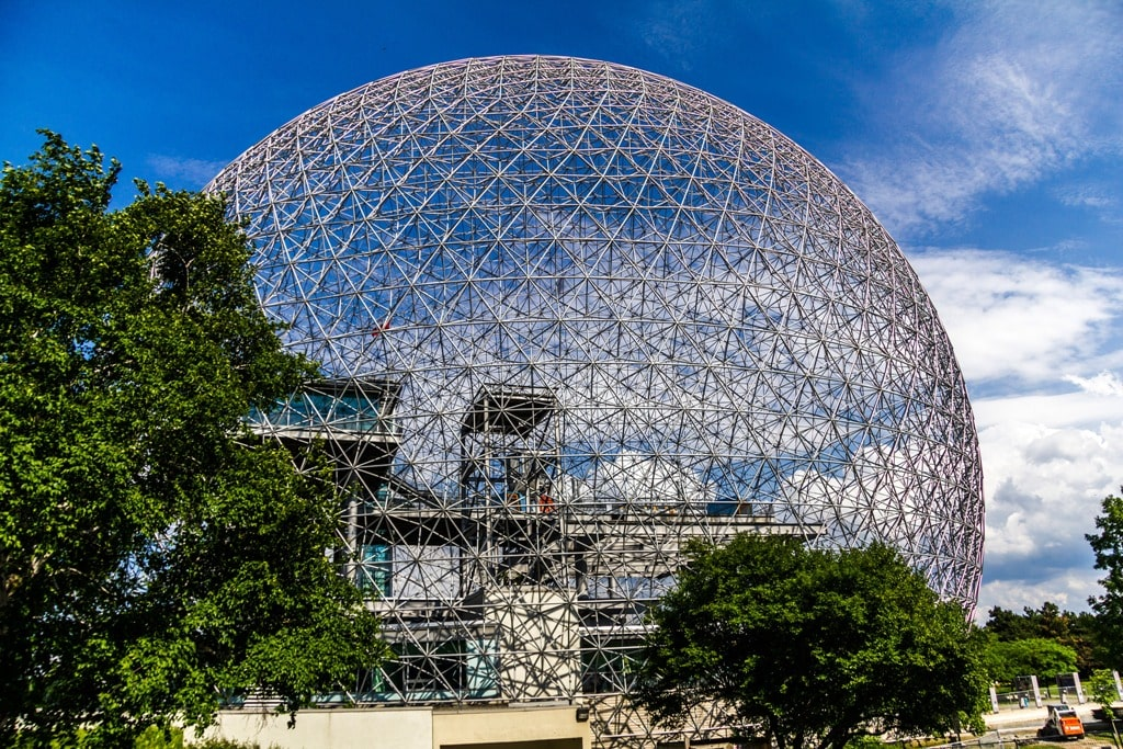 Ball of steel, Biosphere in Montreal,