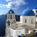 Blue domed churches in Santorini - 2 days in Santorini