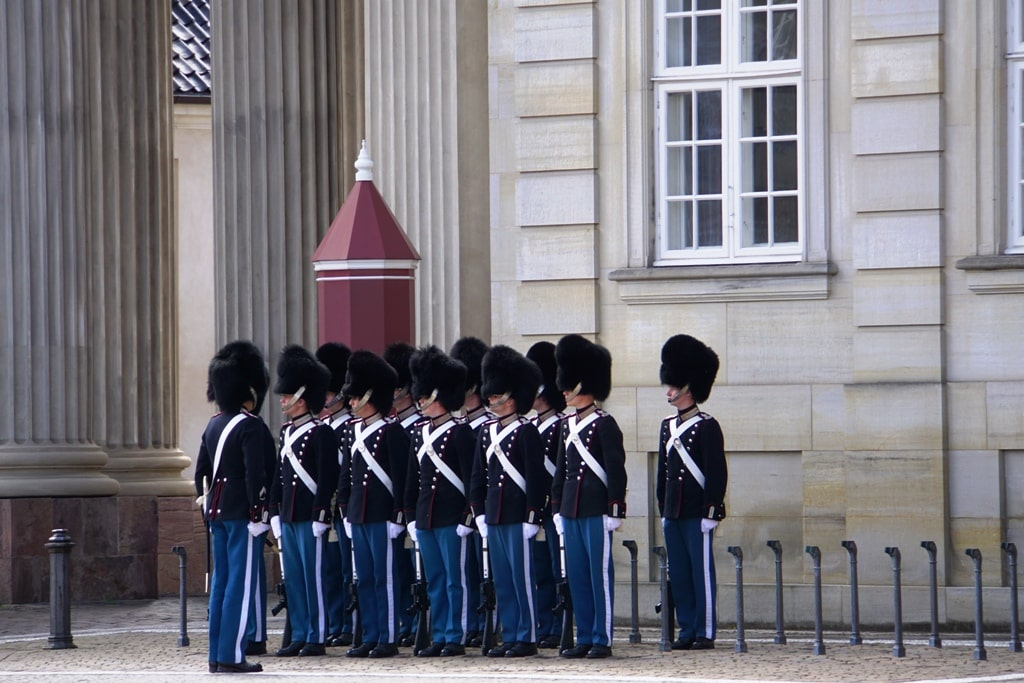change of the guard in Copenhagen itinerary