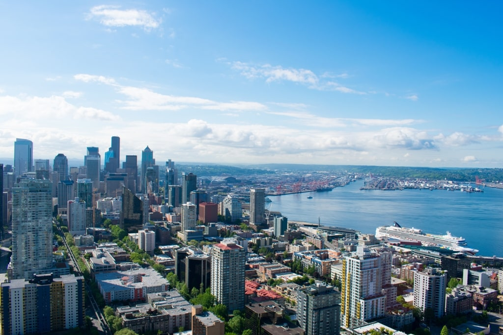 view from Space Needle - 2 days in Seattle