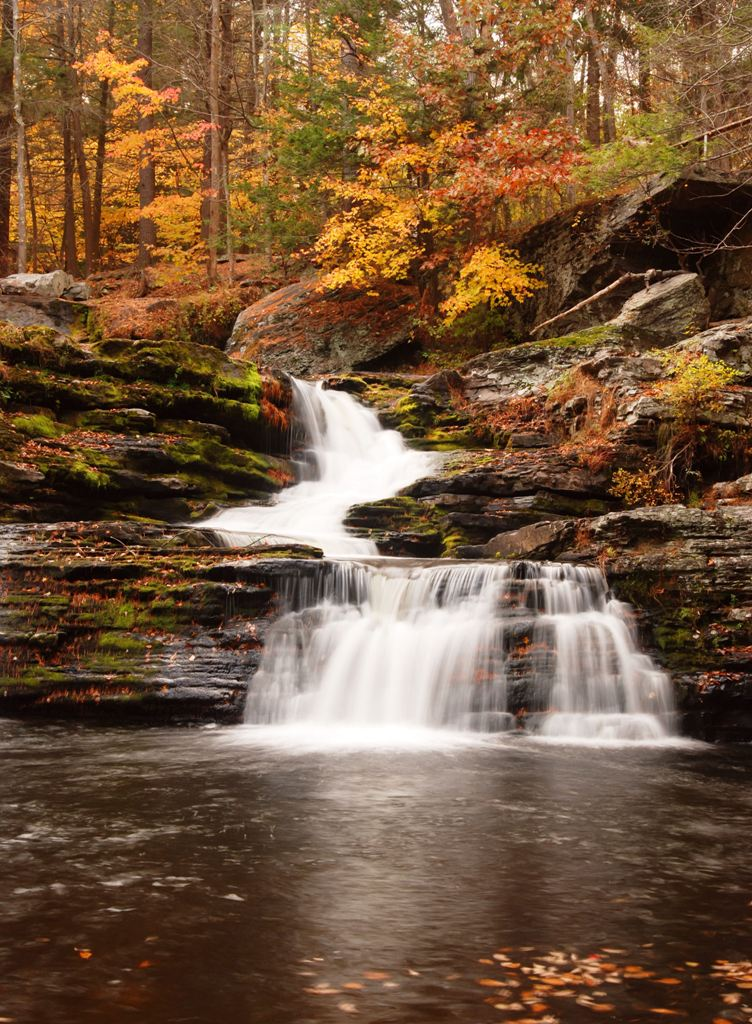 cascading Factory Falls in the Poconos, Pennsylvania