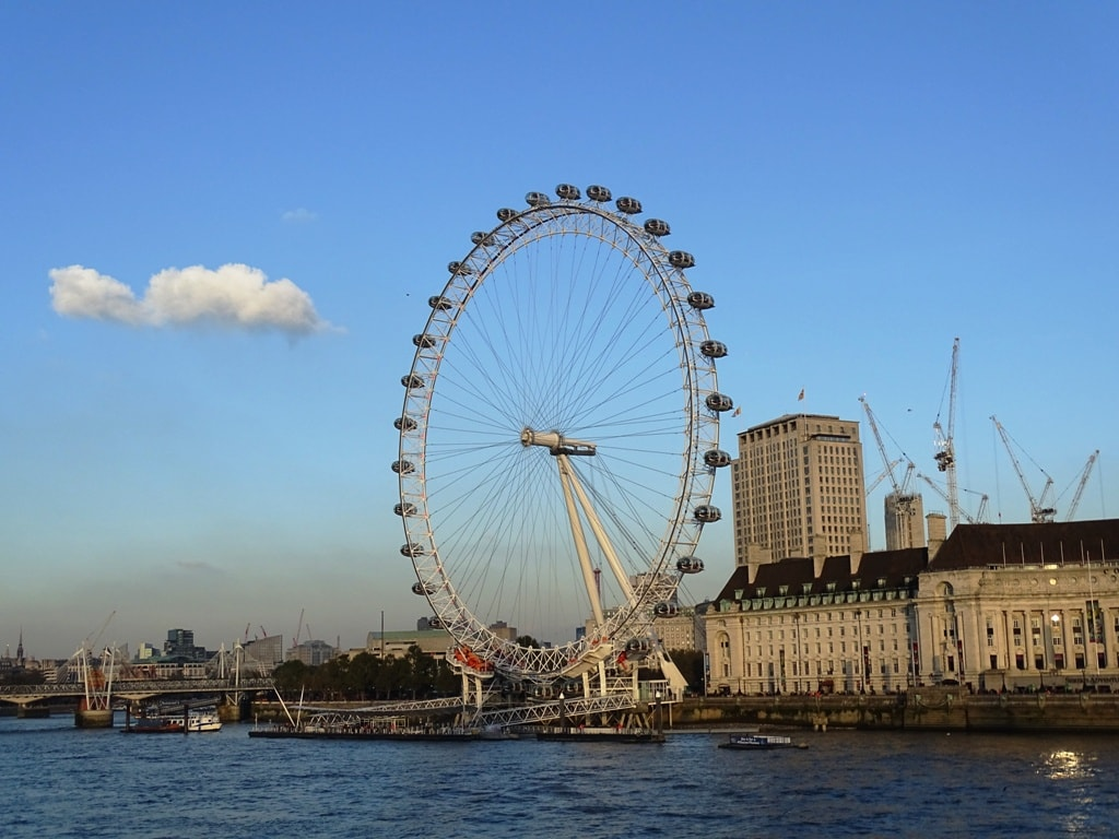 View of London Eye from Westminster Bridge - two days in London