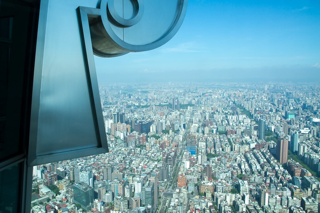 View of Taipei from Above at Taipei 101
