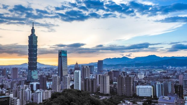 Sunset from Elephant Mountain - 2 days in Taipei