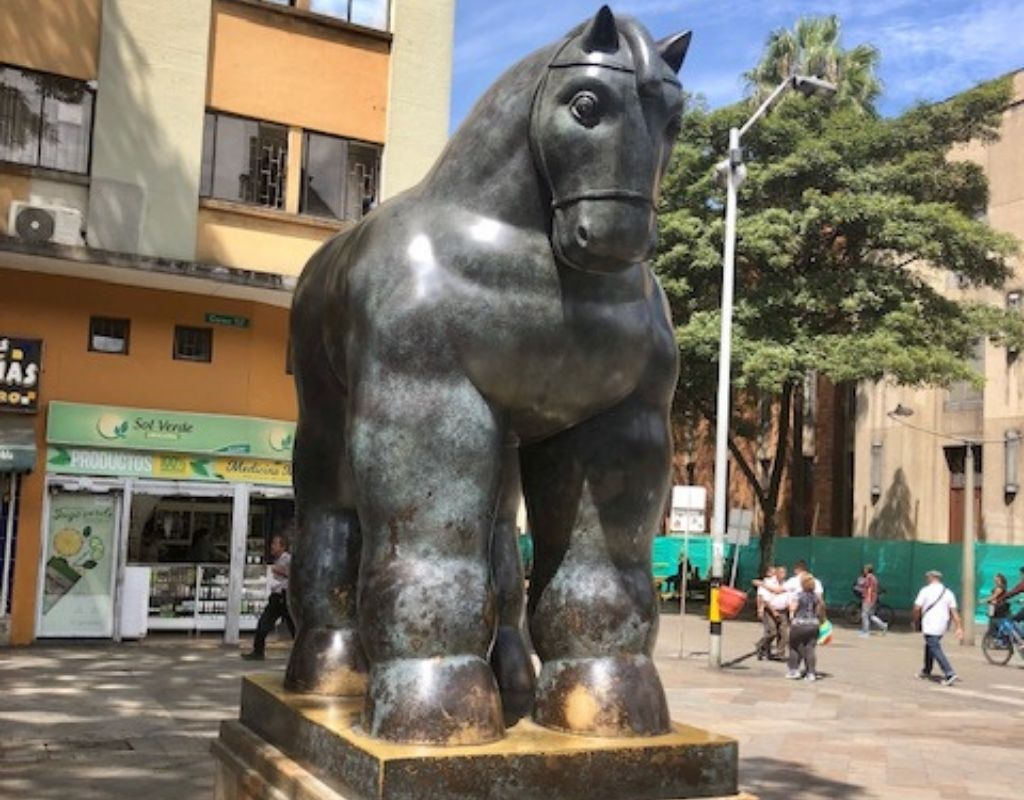 Botero Sculpture - Two Days in Medellin