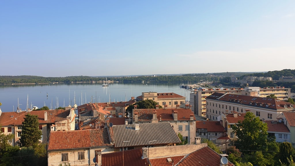 view from Pula fortress