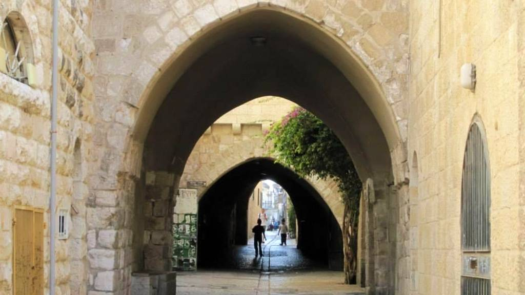 Street in the old city of Jerusalem